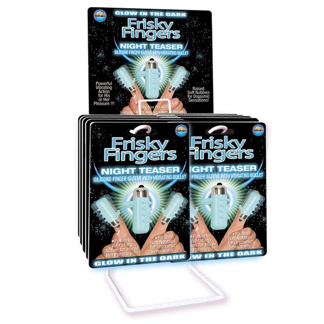 Frisky Finger Night Teaser (12/DP) Vibrators Finger Trusted Sex Toys