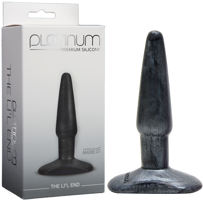 Platinum The LiL End Charcoal Doc Johnson Trusted Sex Toys