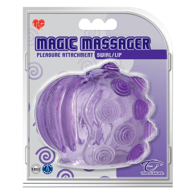 Magic Massager Attachment Swirl/Lip Wands Wand Attachments Sex Toys