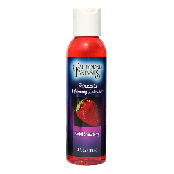 Razzels Sinful Strawberry Lube 4 fl oz Lube Warming Trusted Sex Toys