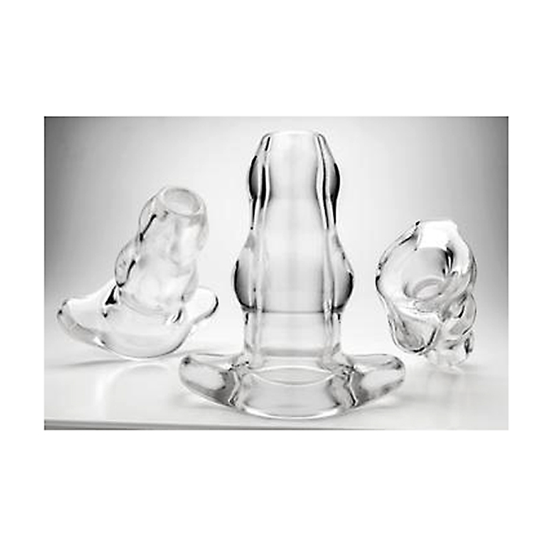 Perfect Fit Double Tunnel Plug Clear Medium Perfect Fit Sex Toys