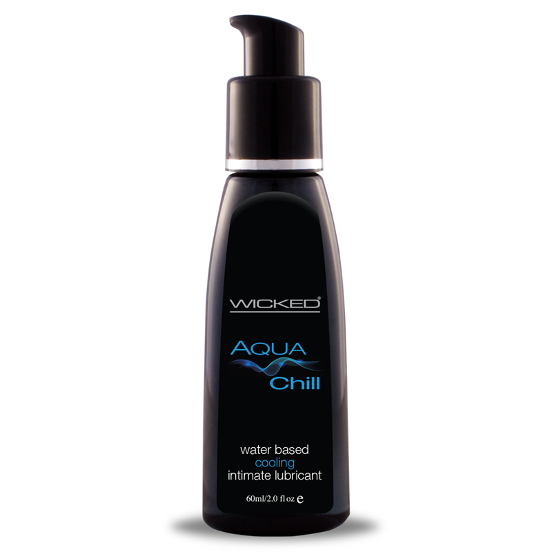 Wicked Aqua Chill Waterbased Lube 2oz. Lube Cooling Trusted Sex Toys