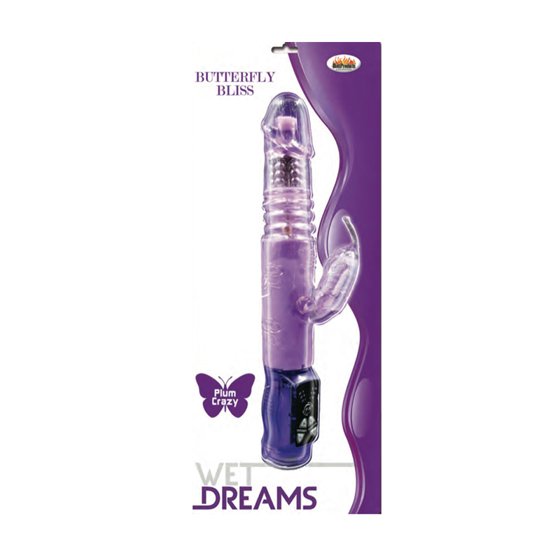 Wet Dreams Butterfly Bliss Purple Vibrator Clit Stimulating Sex Toys