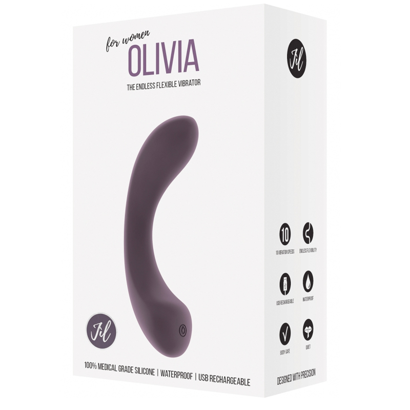 Jil Olivia Purple Vibes G Spot Trusted Sex Toys
