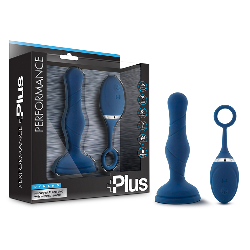 Performance Plus Dynamo Anal Plug Blue Blush Trusted Sex Toys